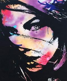 l'envolée est une peinture streetart par peam's streetartiste et artiste urbain