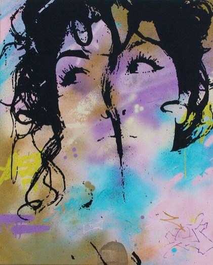 la mutine est une peinture streetart par peam's streetartiste et artiste urbain pop art