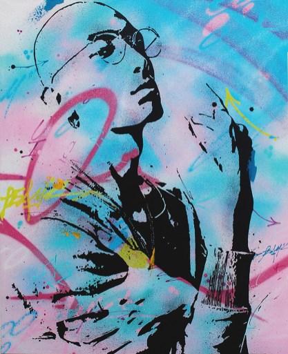 toile de l'artiste urbain peam's streetart