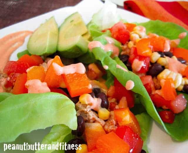 Southwestern Turkey Lettuce Wraps