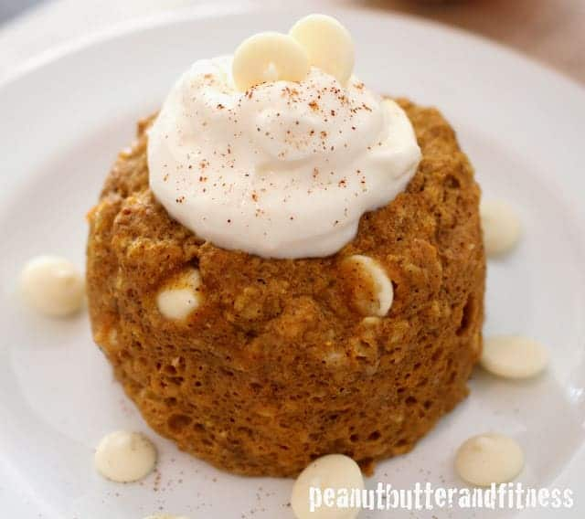 Protein Pumpkin Mug Cake with Cheesecake Frosting