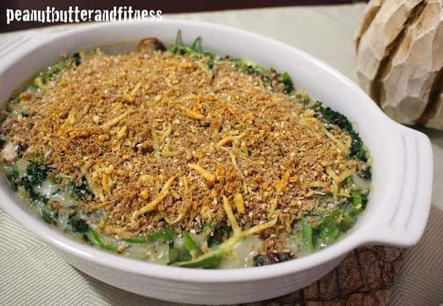 Clean Green Bean and Kale Casserole