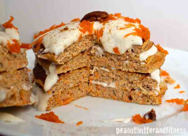 Carrot Cake Protein Pancakes - Peanut Butter and Fitness