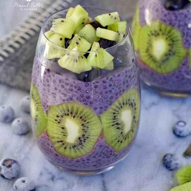 Blueberry Kiwi Chia Pudding