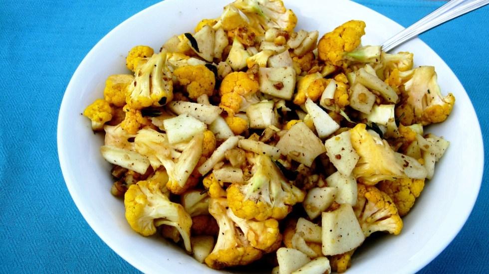 Cauliflower w/ Apples, Sage and Walnuts