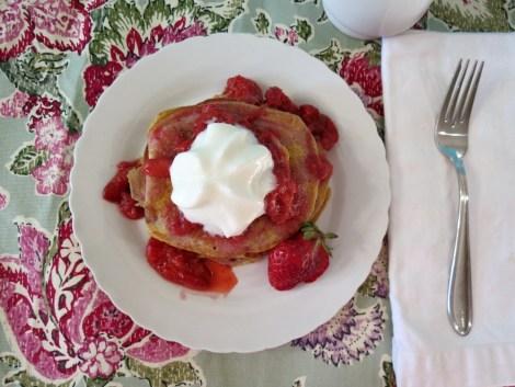 Strawberry Shortcake Pancakes