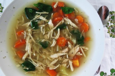 Chicken Lemon Soup with Orzo Pasta