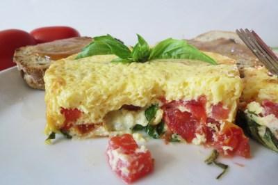 Tomato Basil Fritata