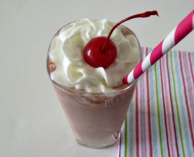 Chocolate Cherry Jubilee Frappe