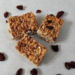Cranberry and Almond Puffed Wheat Bars