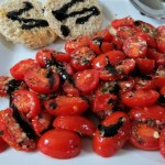 Oven Roasted Tomatoes with Balsamic Glaze / Weekly Recap