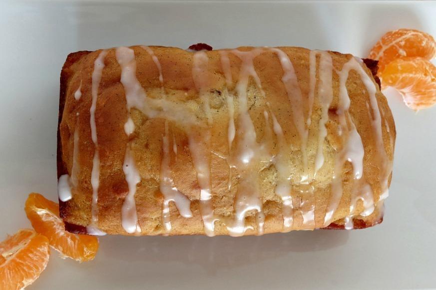 Vanilla Bean Orange Loaf Bread with Orange Glaze 018a