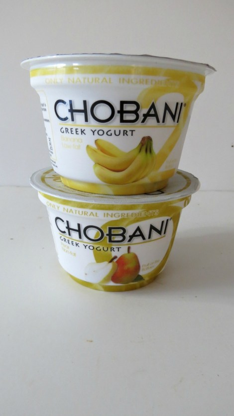 Chobani Banana and Pear Greek Yogurt