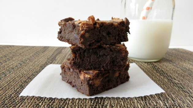 Black Bean Brownies with Peanut Butter Swirl