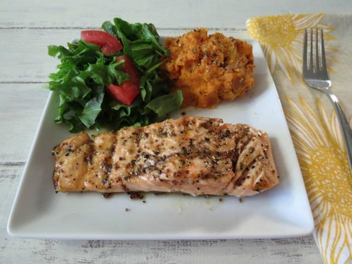 Maple Glazed Grilled Salmon