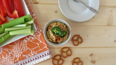 Pickled Jalapeno and Artichoke Hummus