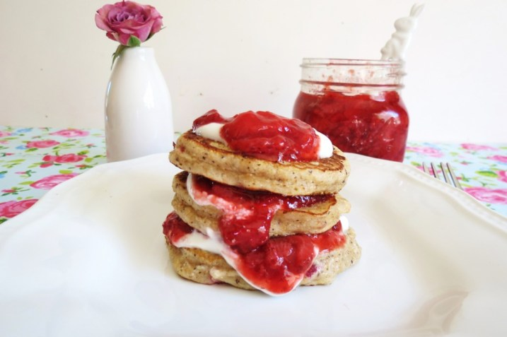 Strawberry Coconut Pancakes