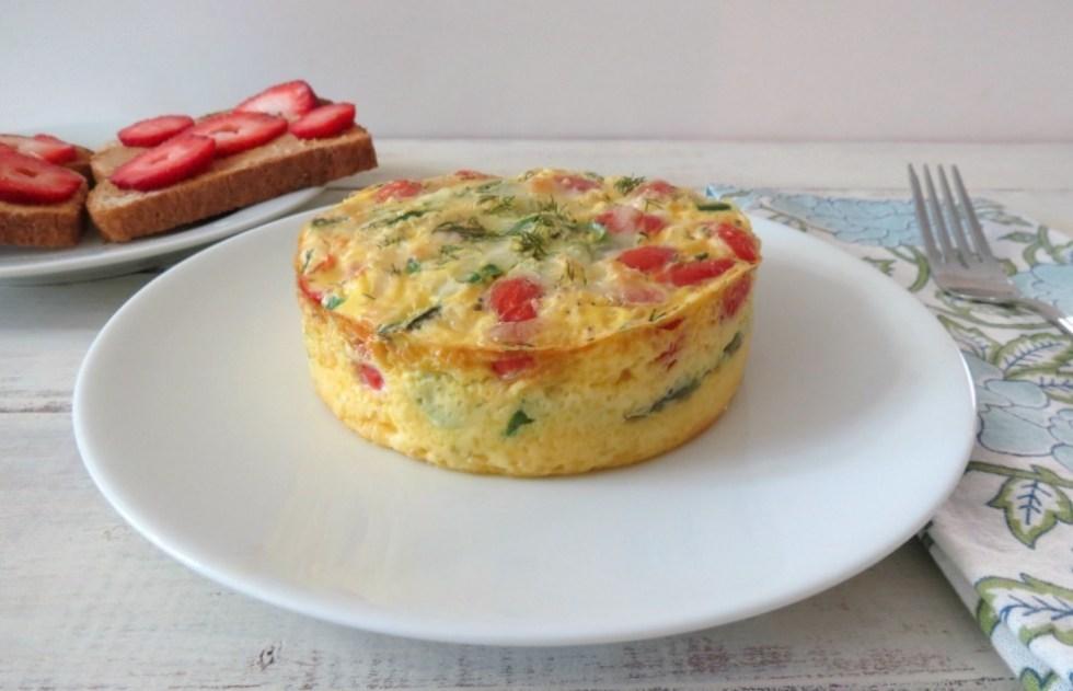 Asparagus and Tomato Egg Bake