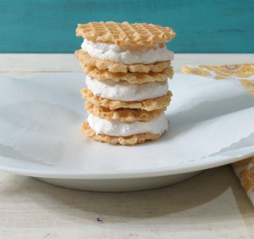Lemon and Coconut Ice Cream Sandwiches