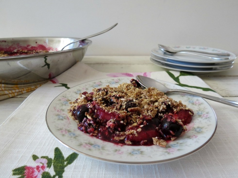 Stove Top Berry Crumble