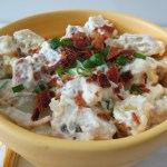 Lightened Up Fully Loaded Baked Potato Salad #SundaySupper