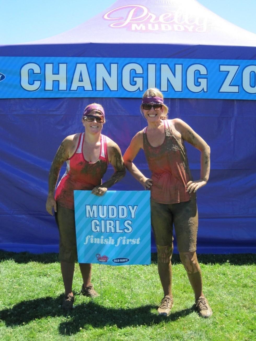 Nicole and Jennifer Pretty Muddy