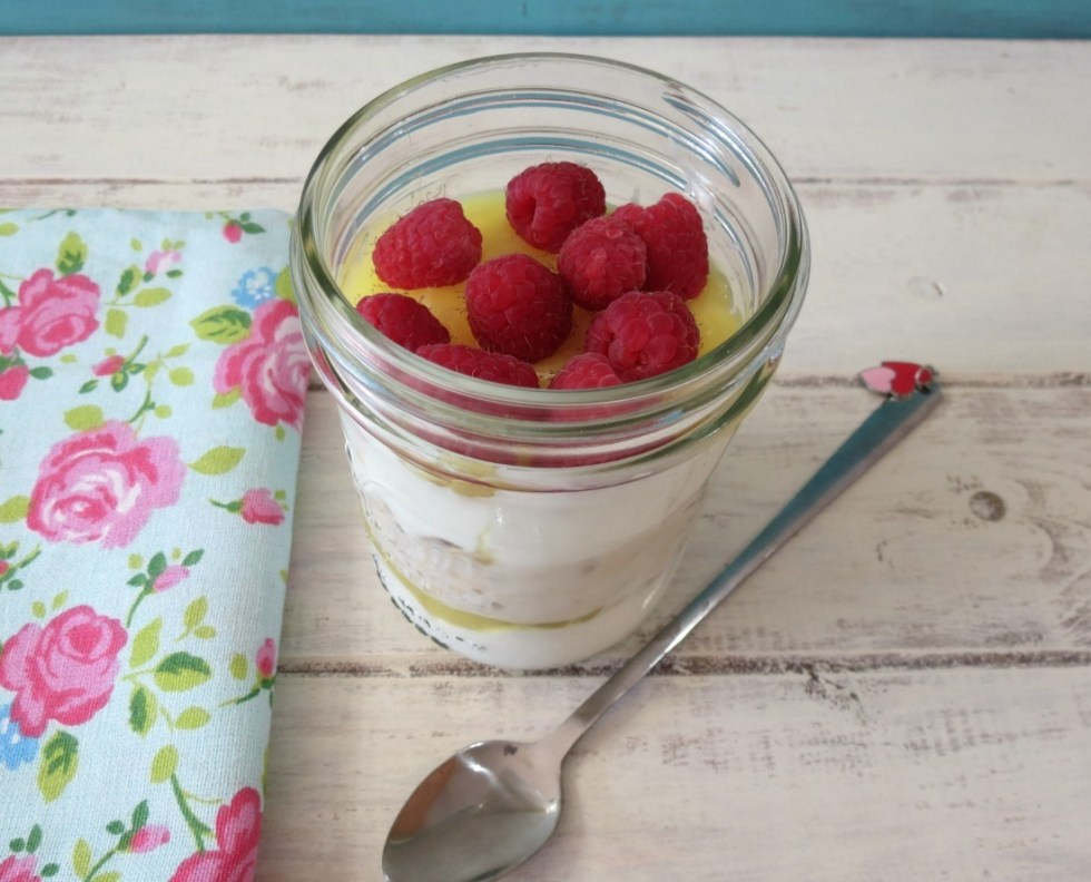 Raspberry Lemon Breakfast Jar