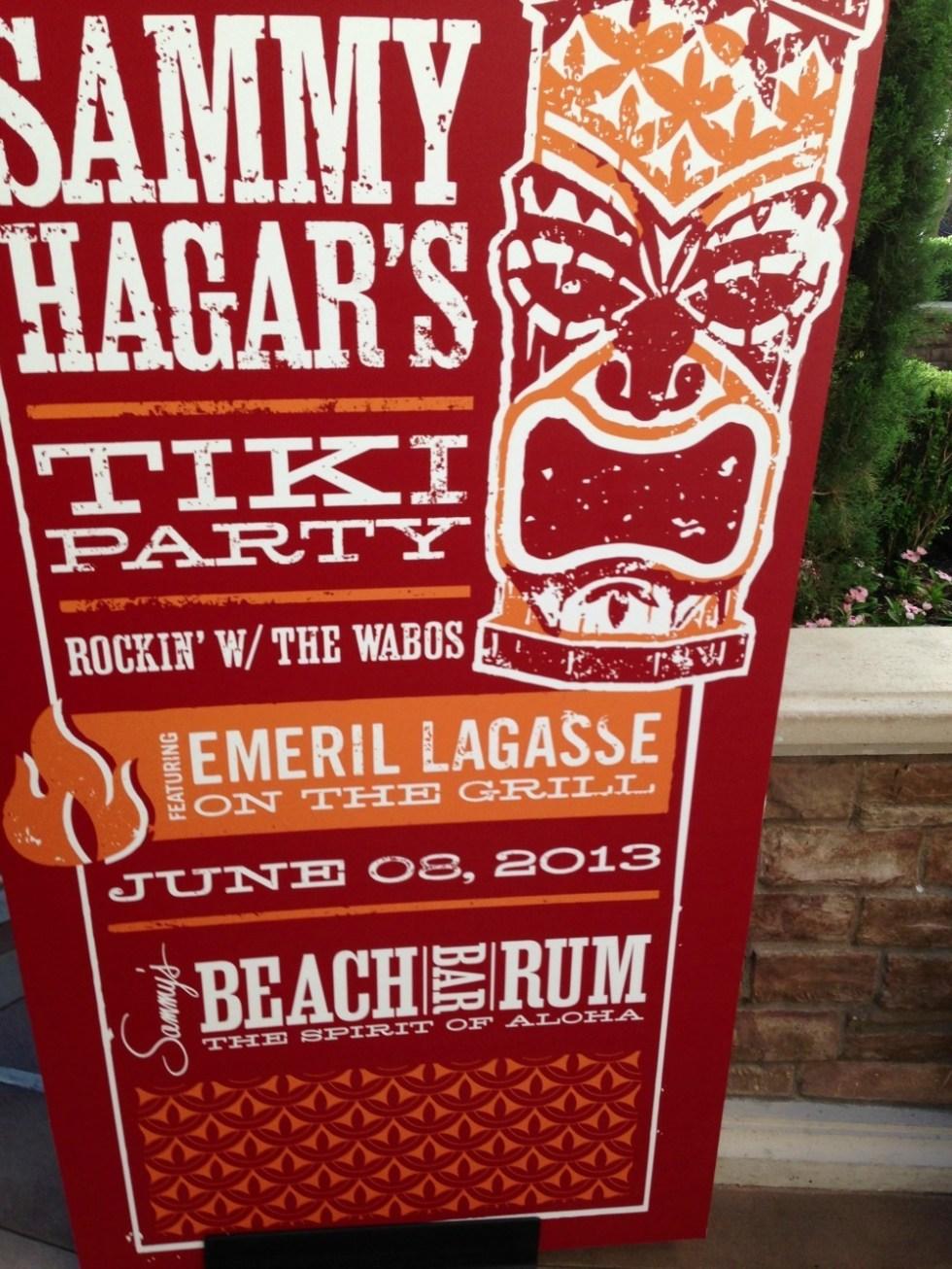 Sammy Hagar and Emeril's Tiki Party