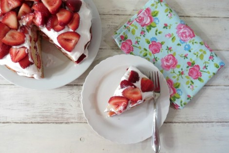 Strawberry Coconut Shortcake