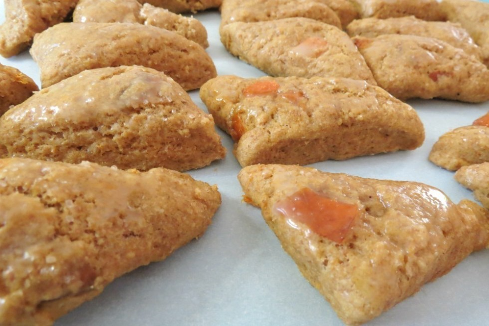 Apricot Scones with Orange Glaze
