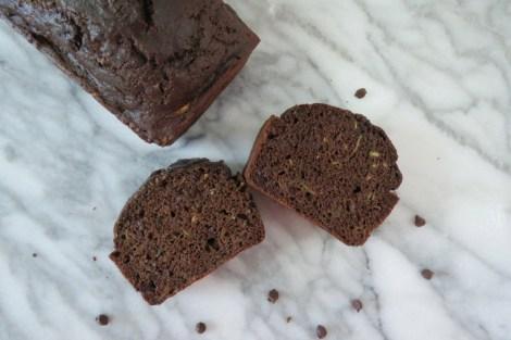 Lightened Up Chocolate Chip Zucchini Bread