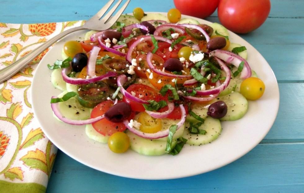 Cucumber and Tomato Summer Salad