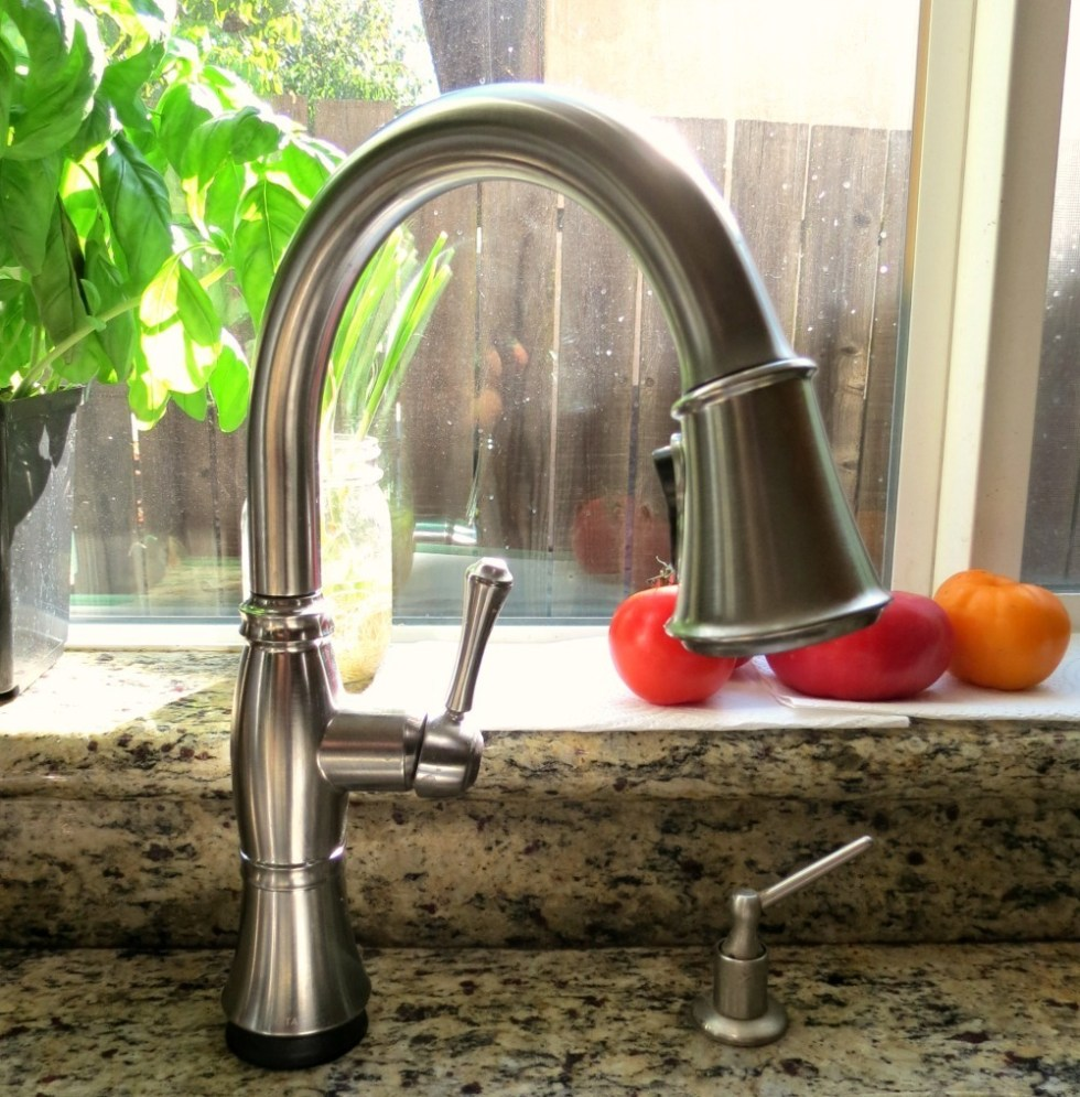 Cassidy Single Handle Pull-Down Kitchen Faucet with Touch2O® Technology  #DeltaFaucetInspired.