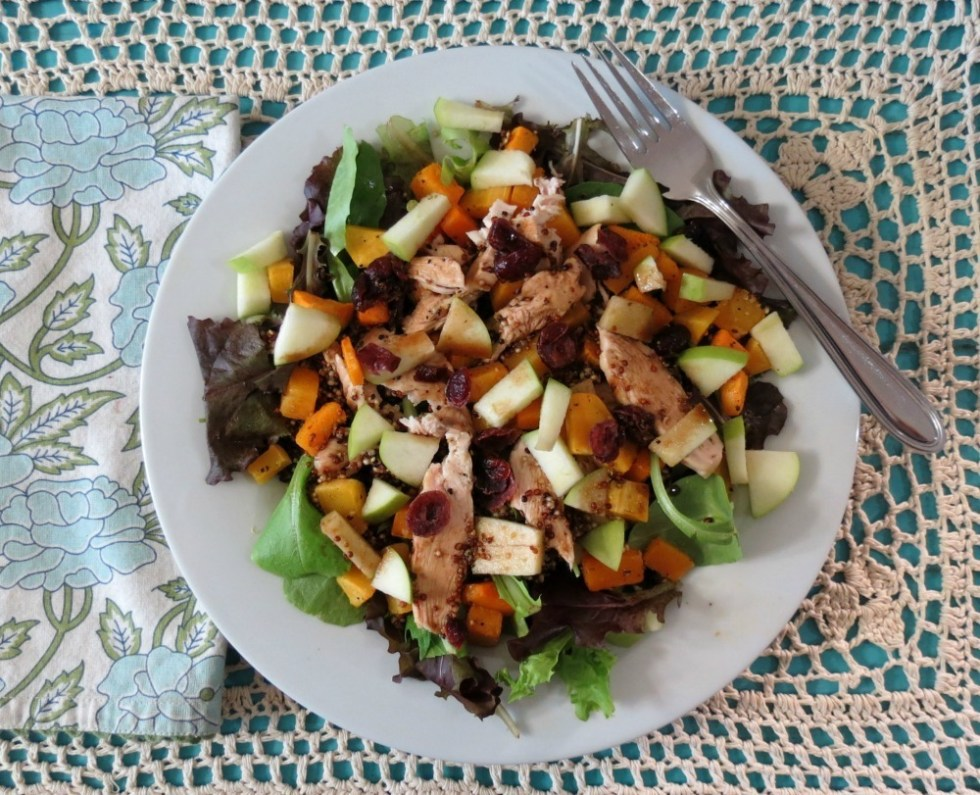 Butternut Squash Fall Chicken Salad with Maple Dressing