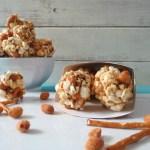 Peanut and Pretzel Popcorn Balls  #SundaySupper