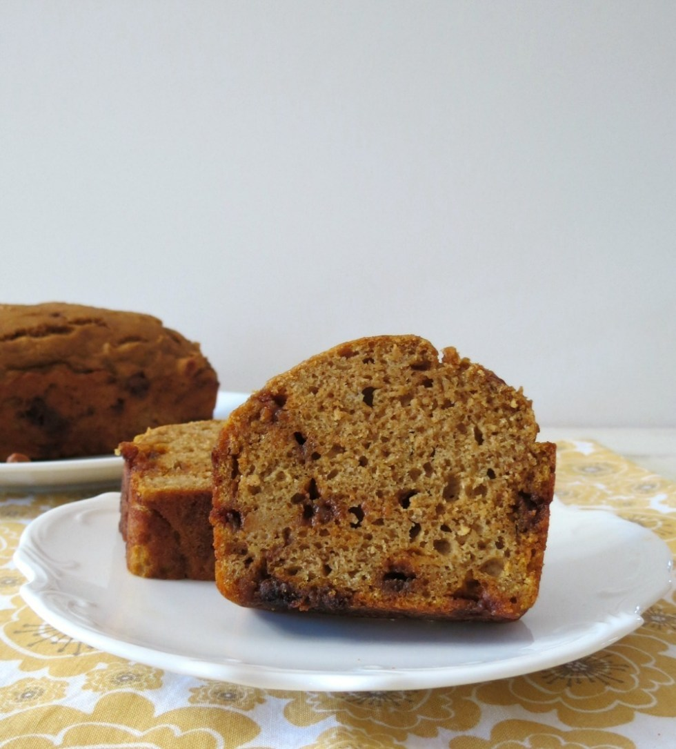 Pumpkin Cinnamon Chip Bread