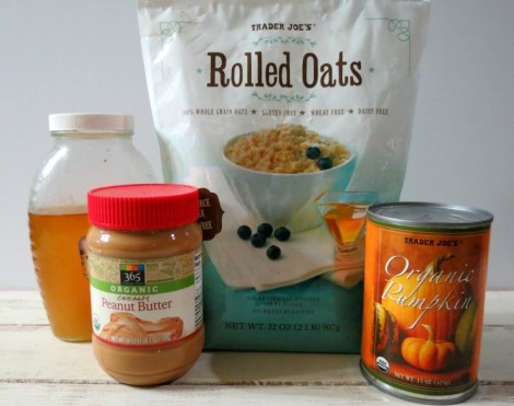 Peanut Butter Pumpkin Dog Ball Ingredients