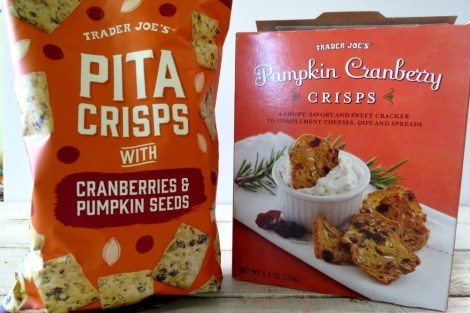Trader Joe's Pumpkin Crisps and Pitas