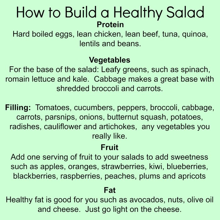 How to Build a Healthy Salad