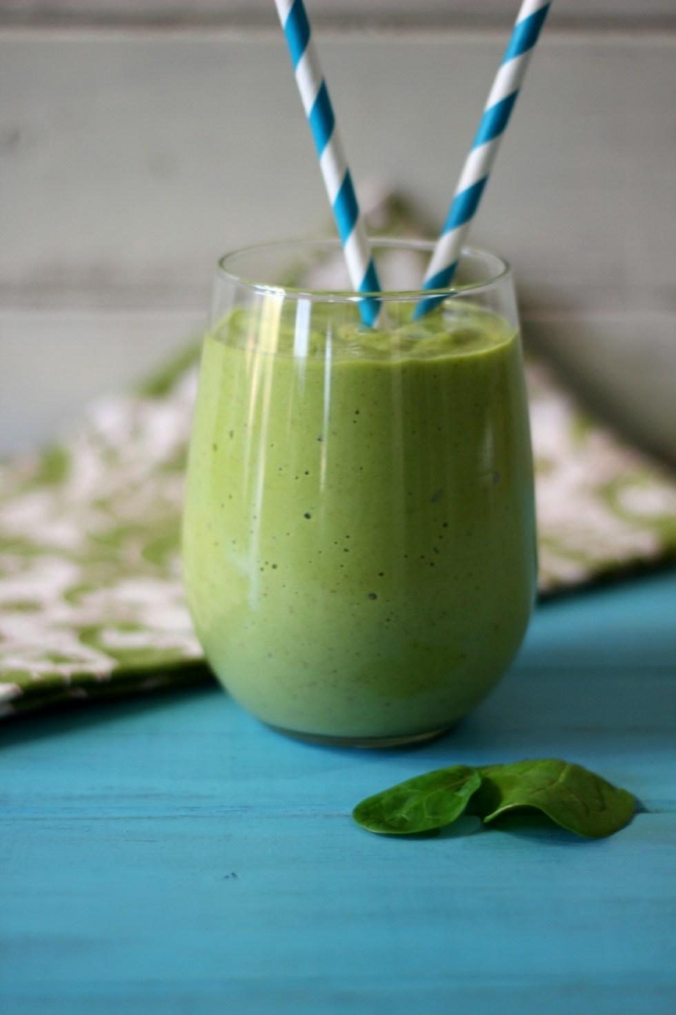 Tropical Green Monster Debloating Smoothie