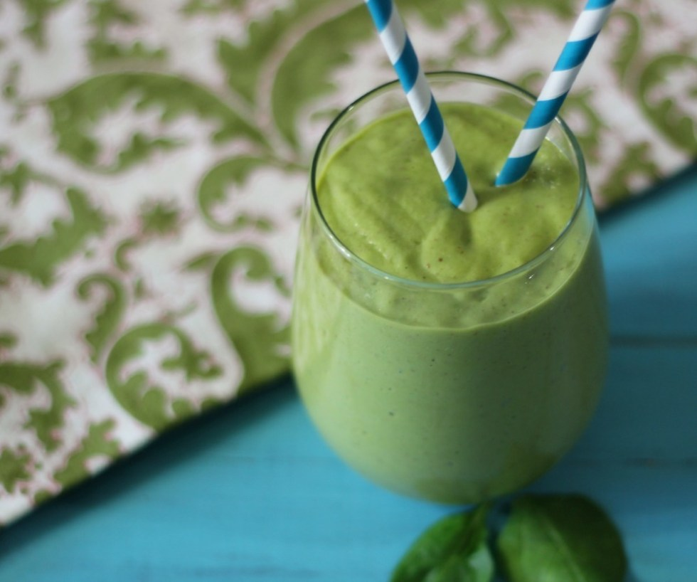 Tropical Green Monster Debloating Smoothie