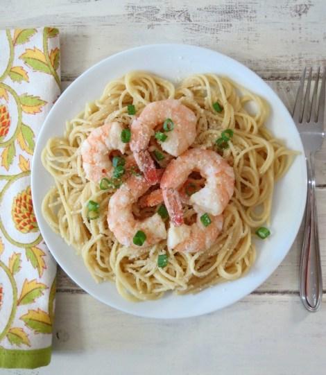 Lemon Infused Shrimp Scampi Pasta