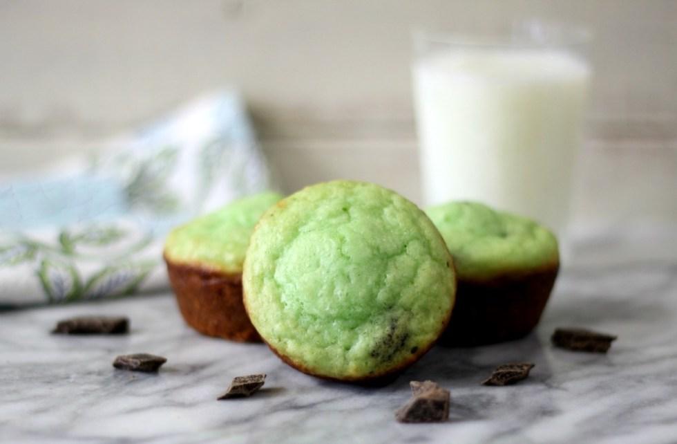 Mint Chocolate Chip Muffins