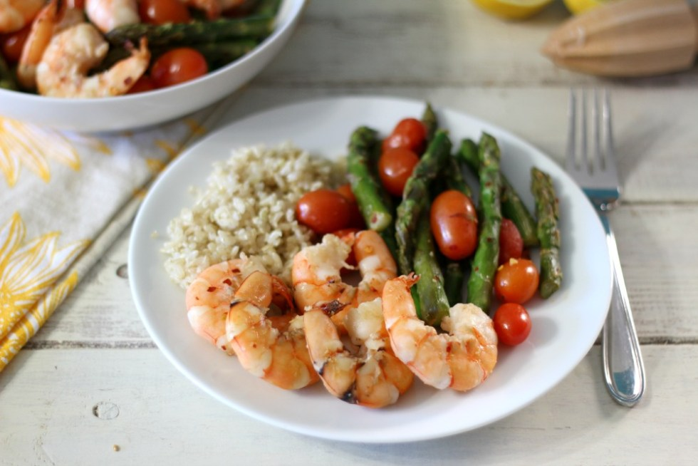 Shrimp with Asparagus and Tomatoes #ShrimpShowndown