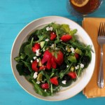 Strawberry and Avocado Salad with Strawberry Balsamic Dressing