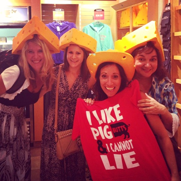 Just a bunch of cheese heads