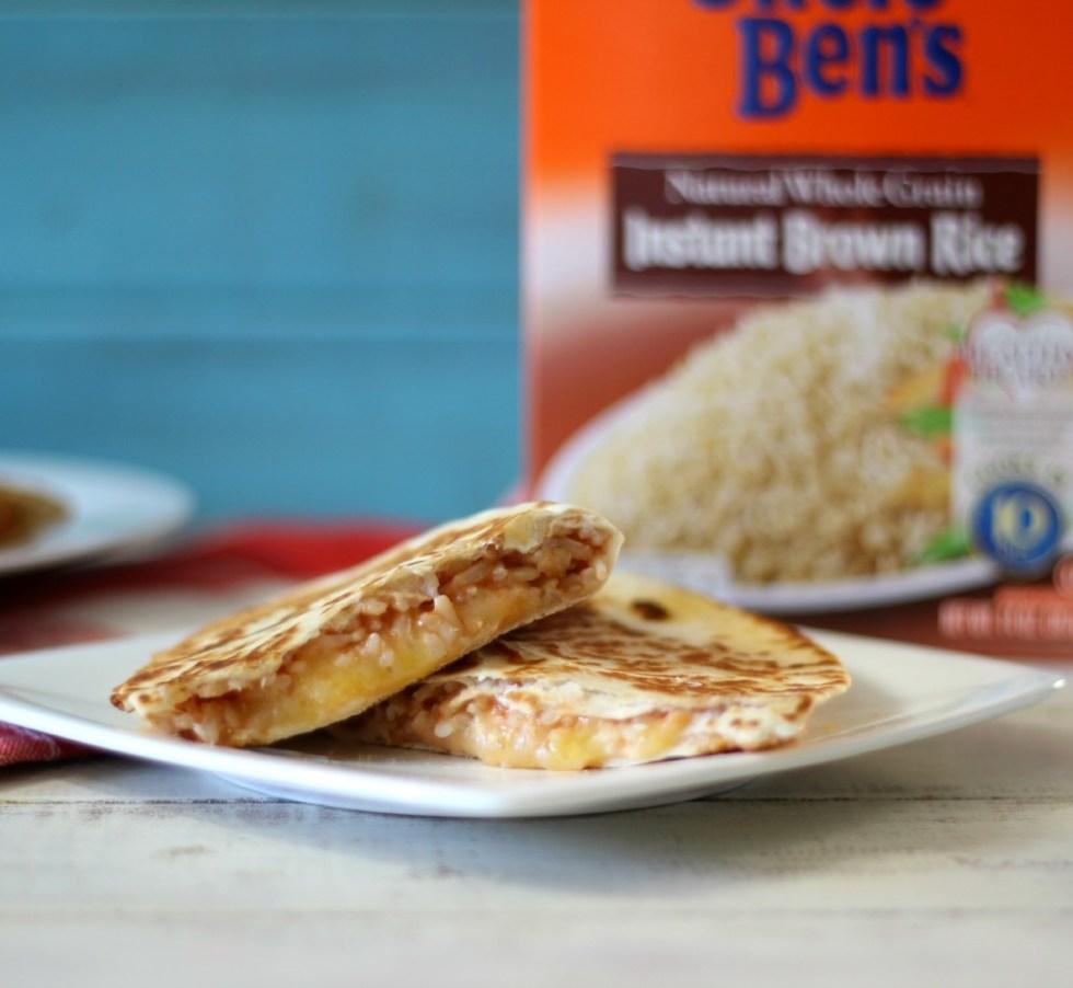 Cheesy Brown Rice Quesadilla's  #BensBeginners