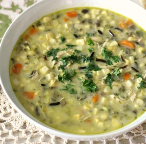 Corn Chowder with Wild Rice