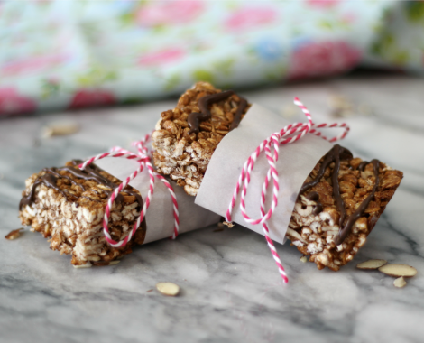 Chocolate Almond Coconut Cereal Bars