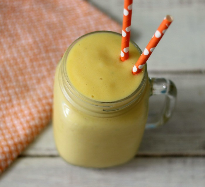 Mango Peach Protein Smoothie
